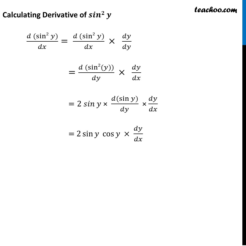 Ex 5.3, 7 - Chapter 5 Class 12 Continuity and Differentiability - Part 2