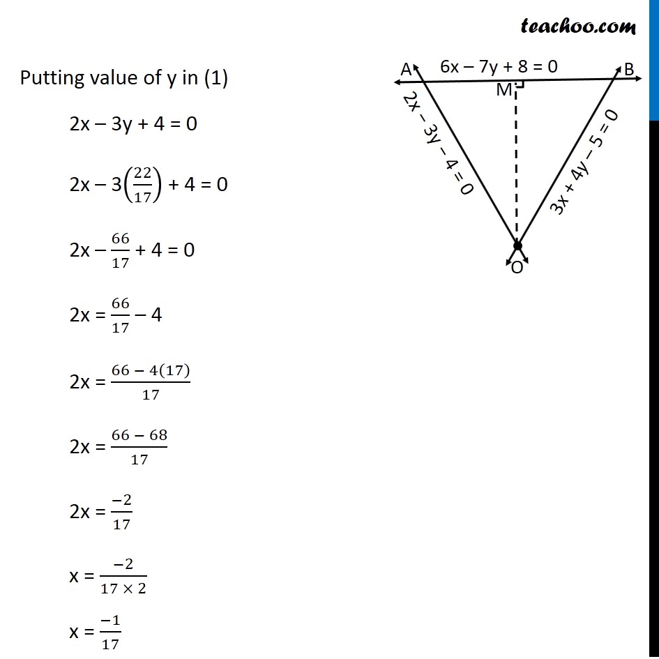 Misc 24 - Chapter 10 Class 11 Straight Lines - Part 4