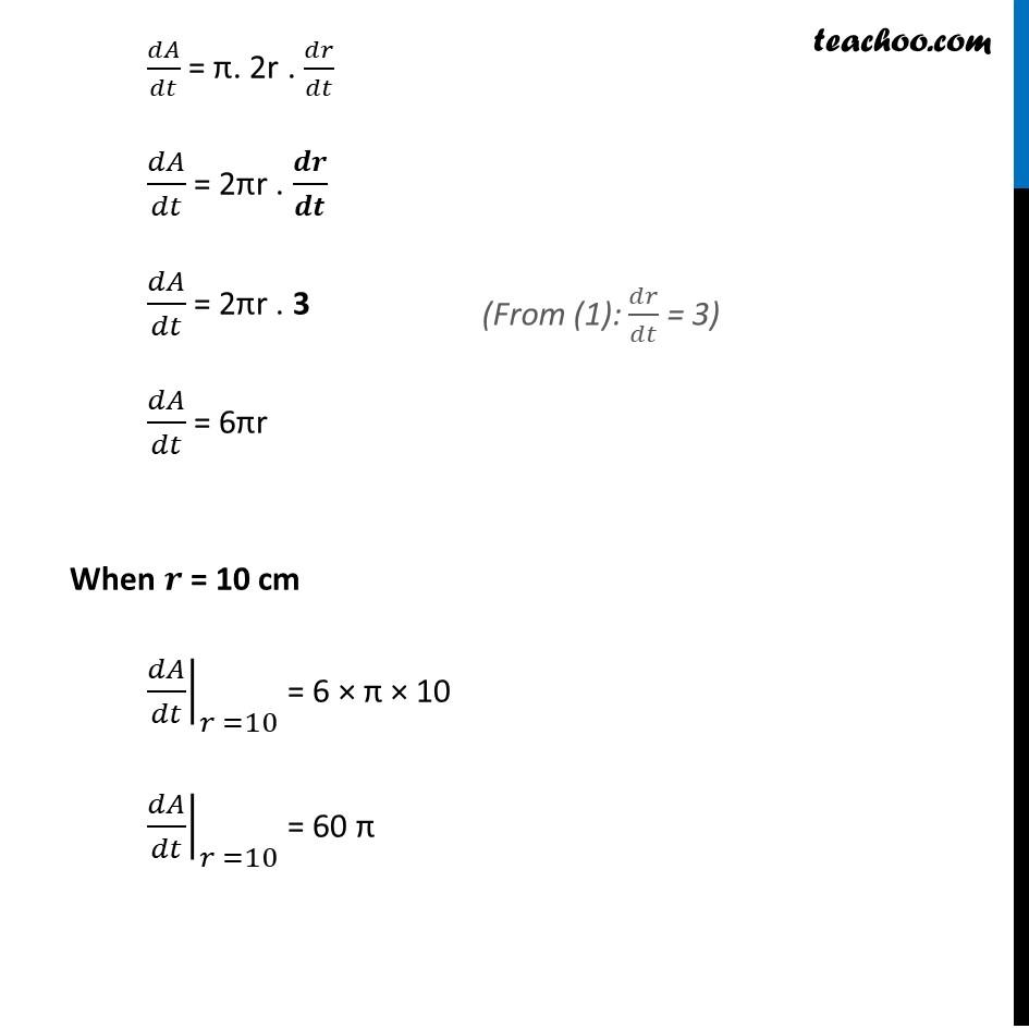 Ex 6.1,3 - Chapter 6 Class 12 Application of Derivatives - Part 3