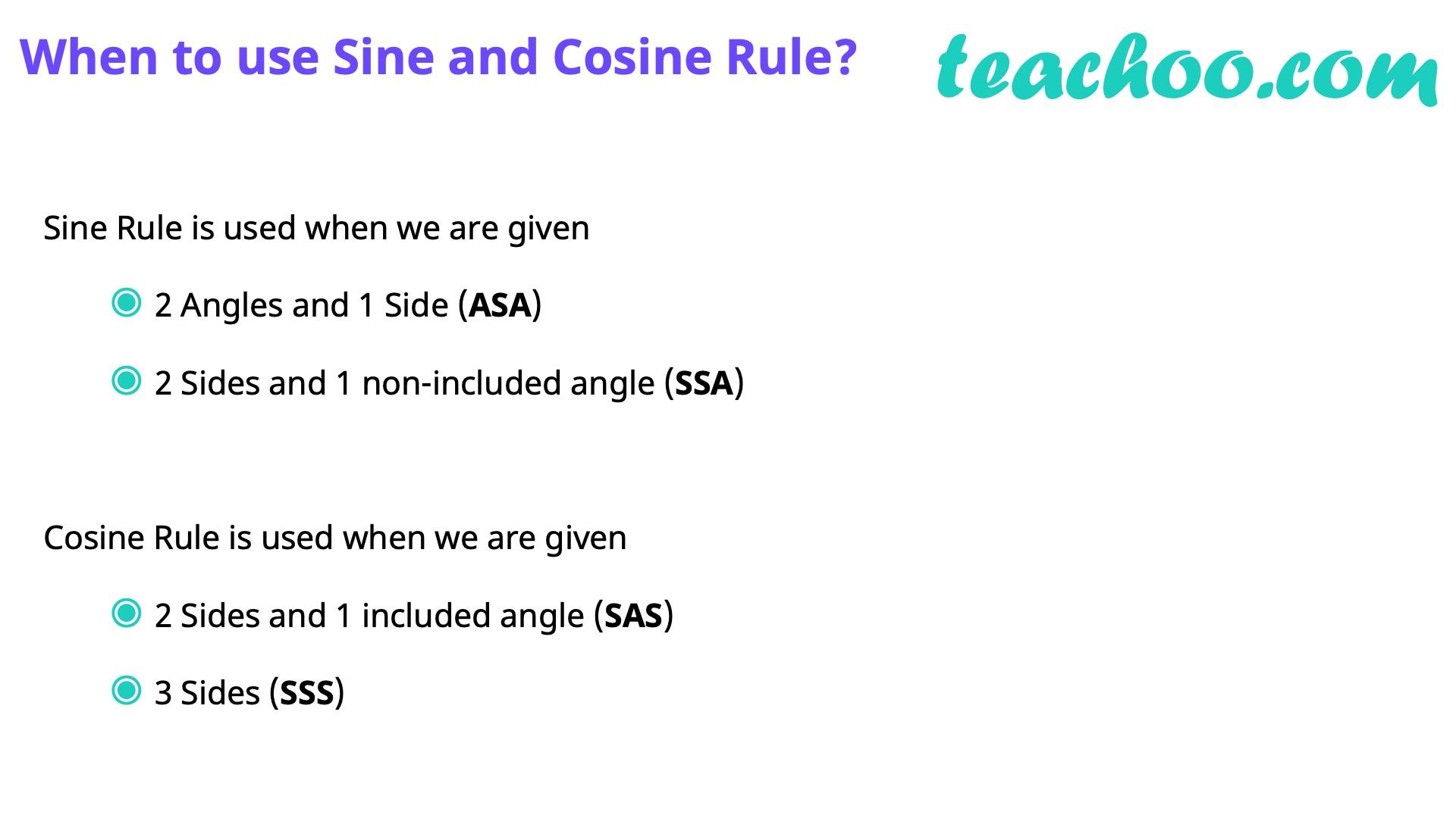 Law of Cosine (Cosine Law) - Part 14