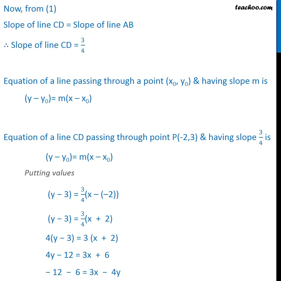 Ex 10.3, 7 - Chapter 10 Class 11 Straight Lines - Part 3
