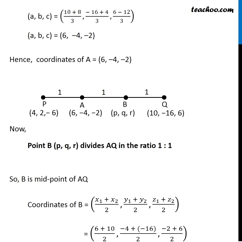 Find Coordinates Of Points Which Trisect Line