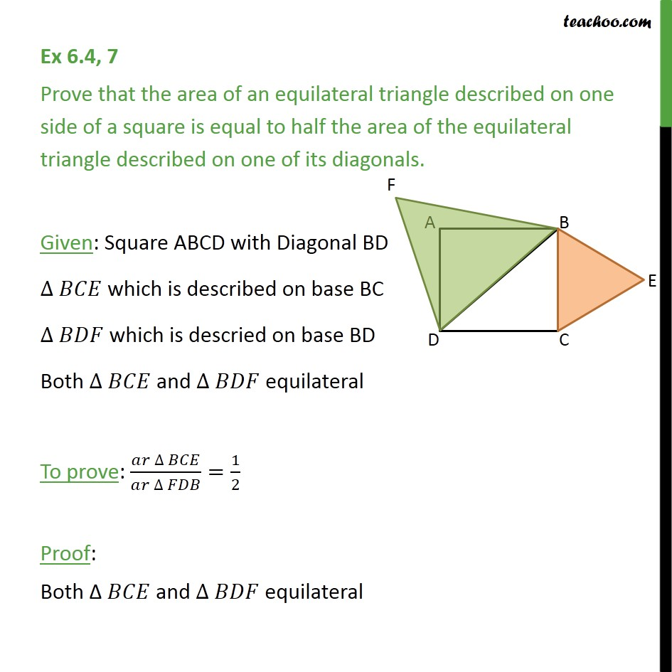 Ex 6.4, 7 - Chapter 6 Class 10 Triangles - Part 4
