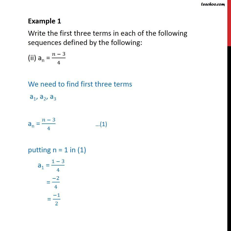 Example 1 - Chapter 9 Class 11 Sequences and Series - Part 3