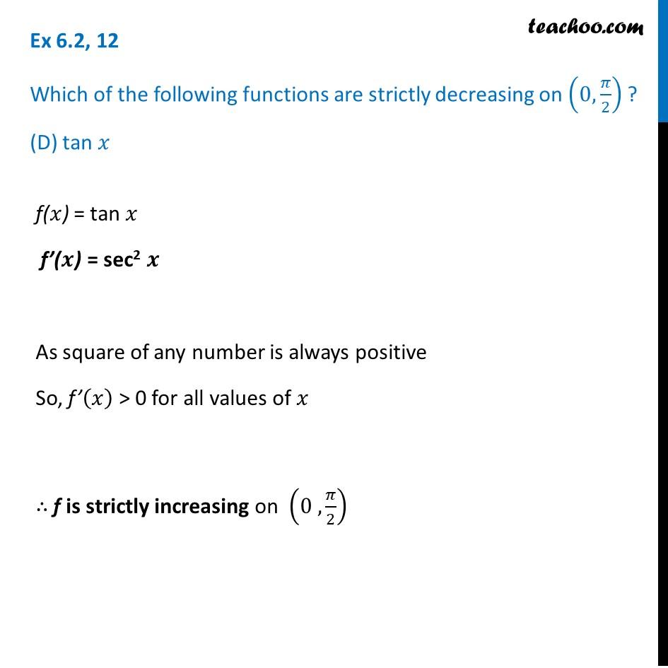 Ex 6.2,12 - Chapter 6 Class 12 Application of Derivatives - Part 7