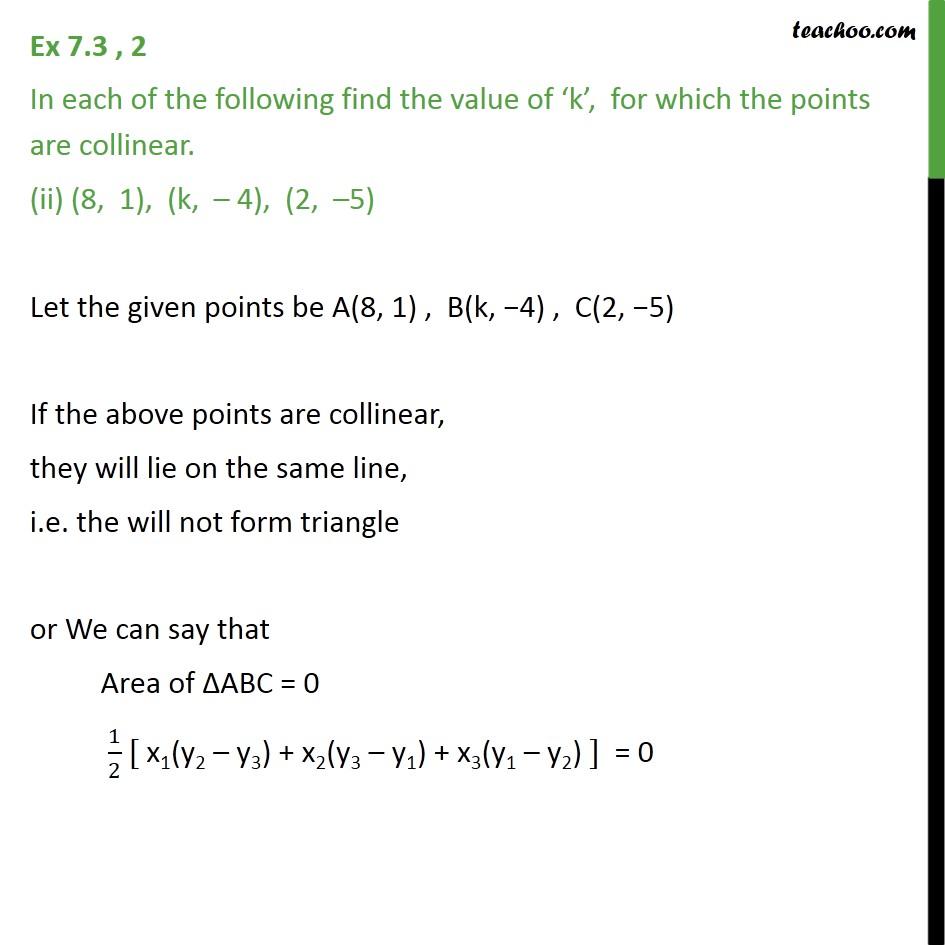 Ex 7.3, 2 - Chapter 7 Class 10 Coordinate Geometry - Part 3