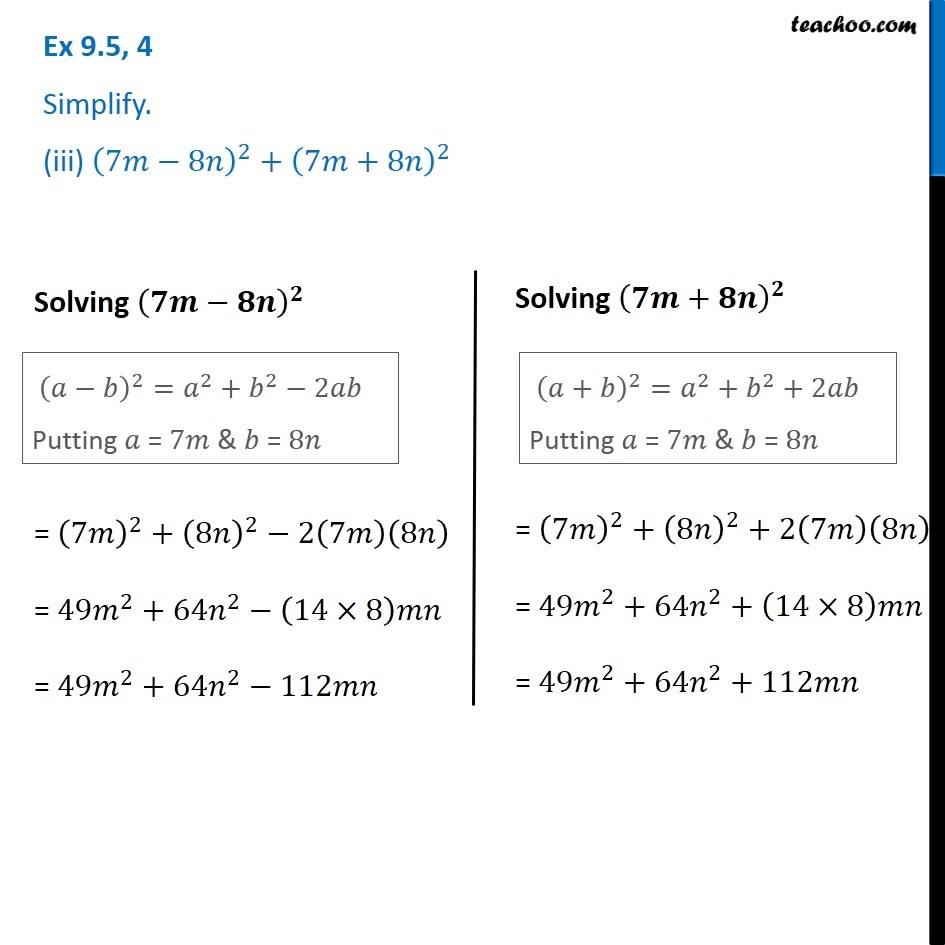 Ex 9.5, 4 - Chapter 9 Class 8 Algebraic Expressions and Identities - Part 4