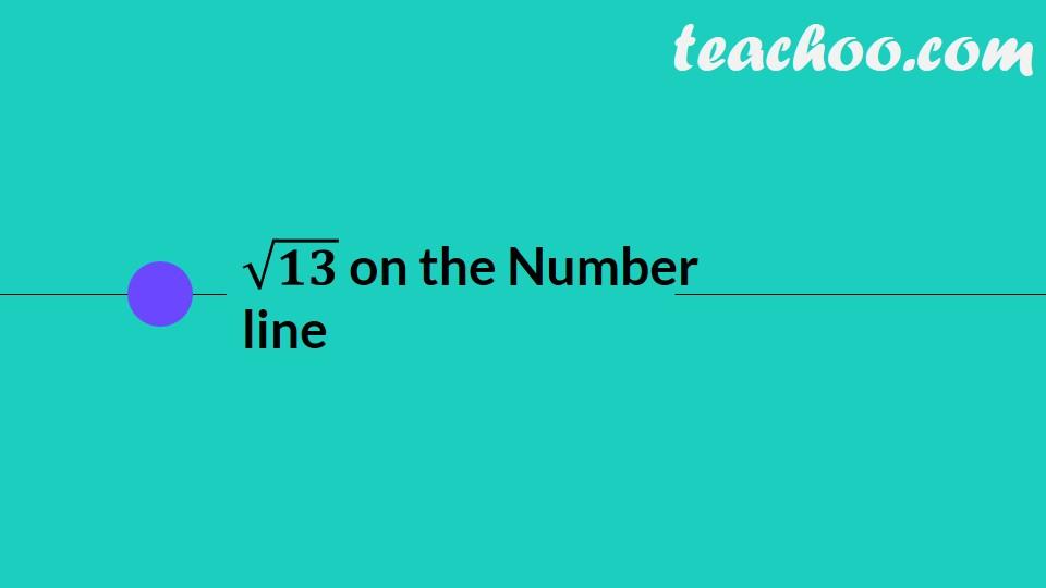 Represent Root 13 on Number Line [Video inside] - Teachoo
