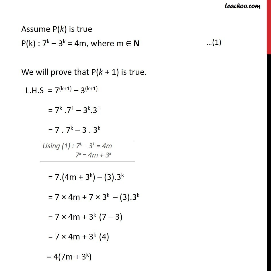 Example 4 - Chapter 4 Class 11 Mathematical Induction - Part 3