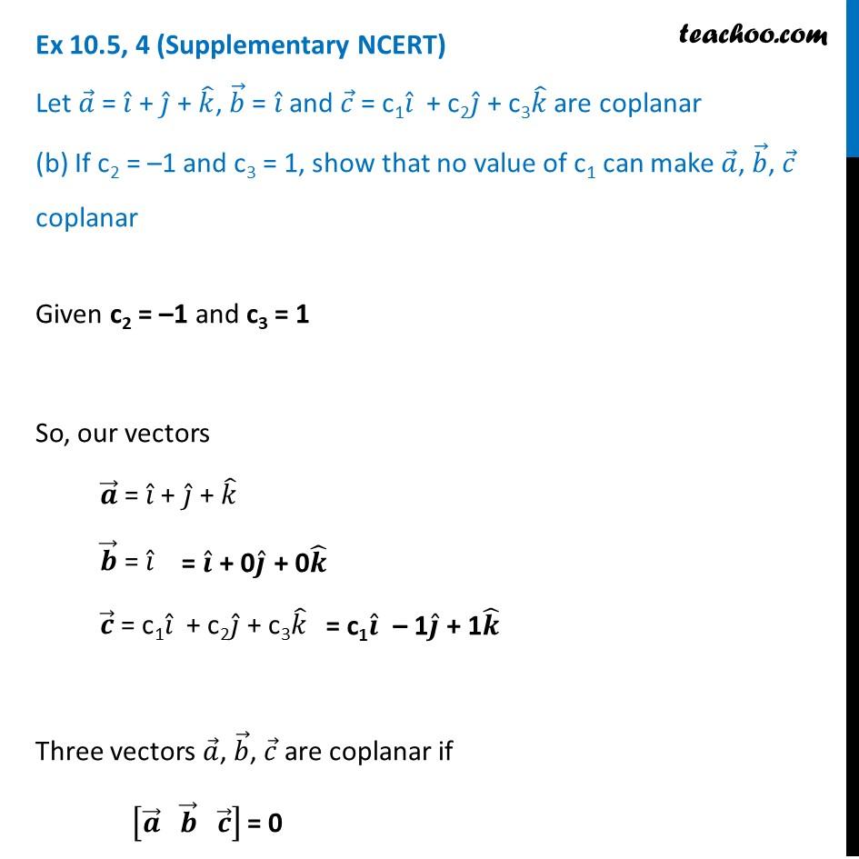 Ex 10.5, 4 (Supplementary NCERT) - Chapter 10 Class 12 Vector Algebra - Part 3