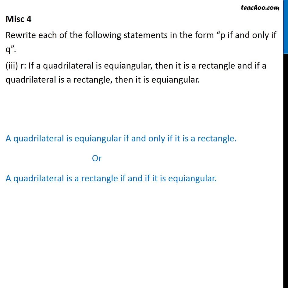 Misc 4 - Chapter 14 Class 11 Mathematical Reasoning - Part 3