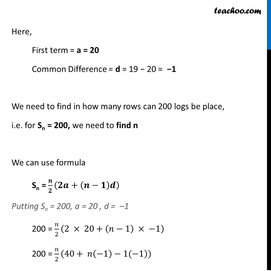 Ex 5.3, 19 - Chapter 5 Class 10 Arithmetic Progressions - Part 2