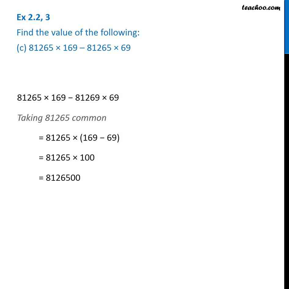 Ex 2.2, 3 - Chapter 2 Class 6 Whole Numbers - Part 3