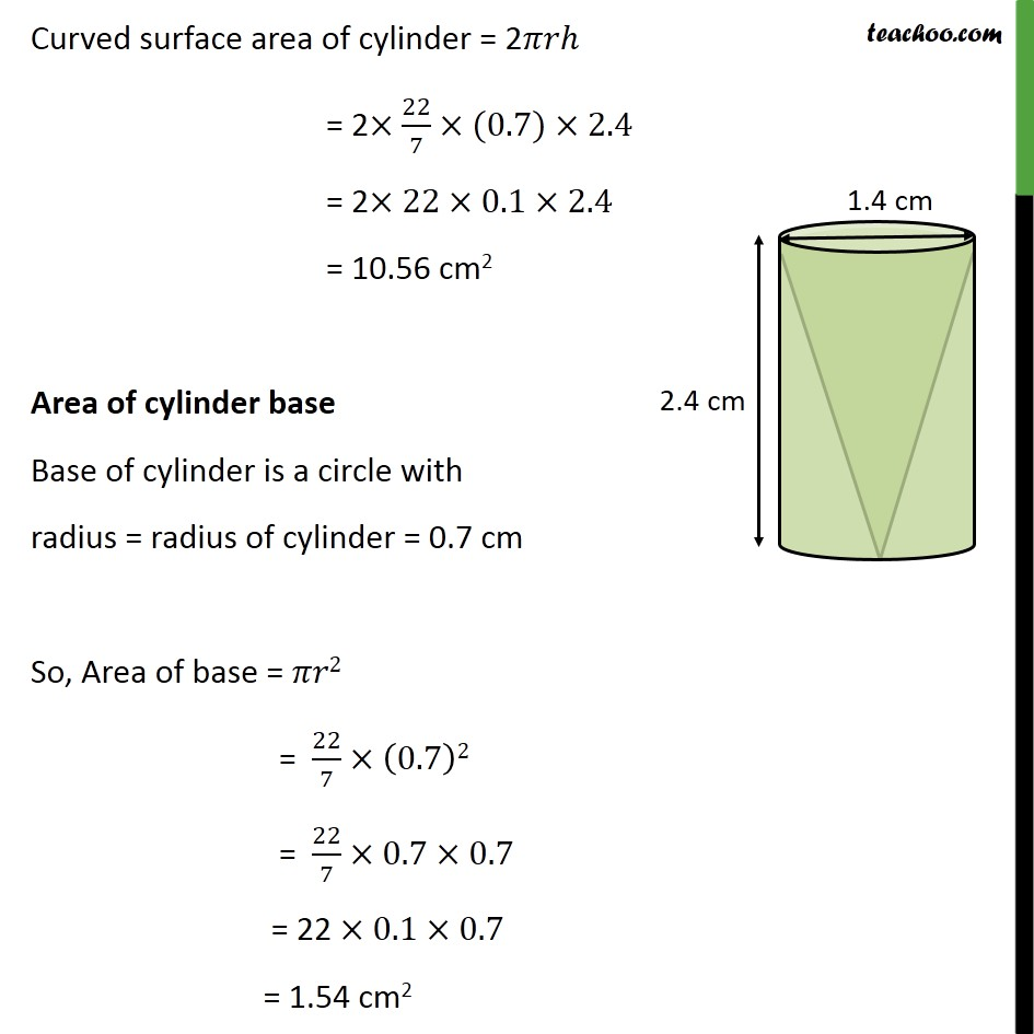 Ex 13.1, 8 - Chapter 13 Class 10 Surface Areas and Volumes - Part 2