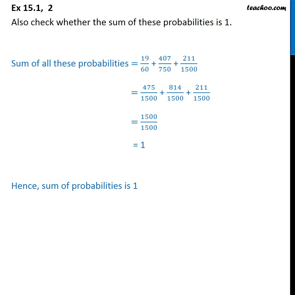 Ex  15.1, 2 - Chapter 15 Class 9 Probability - Part 4
