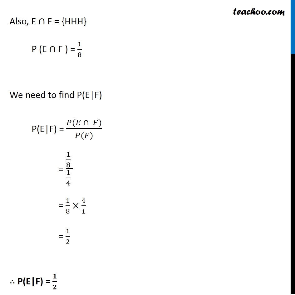 Ex 13.1, 6 - Chapter 13 Class 12 Probability - Part 2
