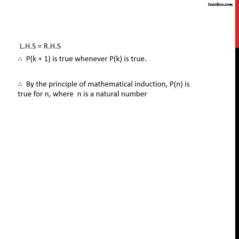 Ex 4.1, 13 - Chapter 4 Class 11 Mathematical Induction - Part 4