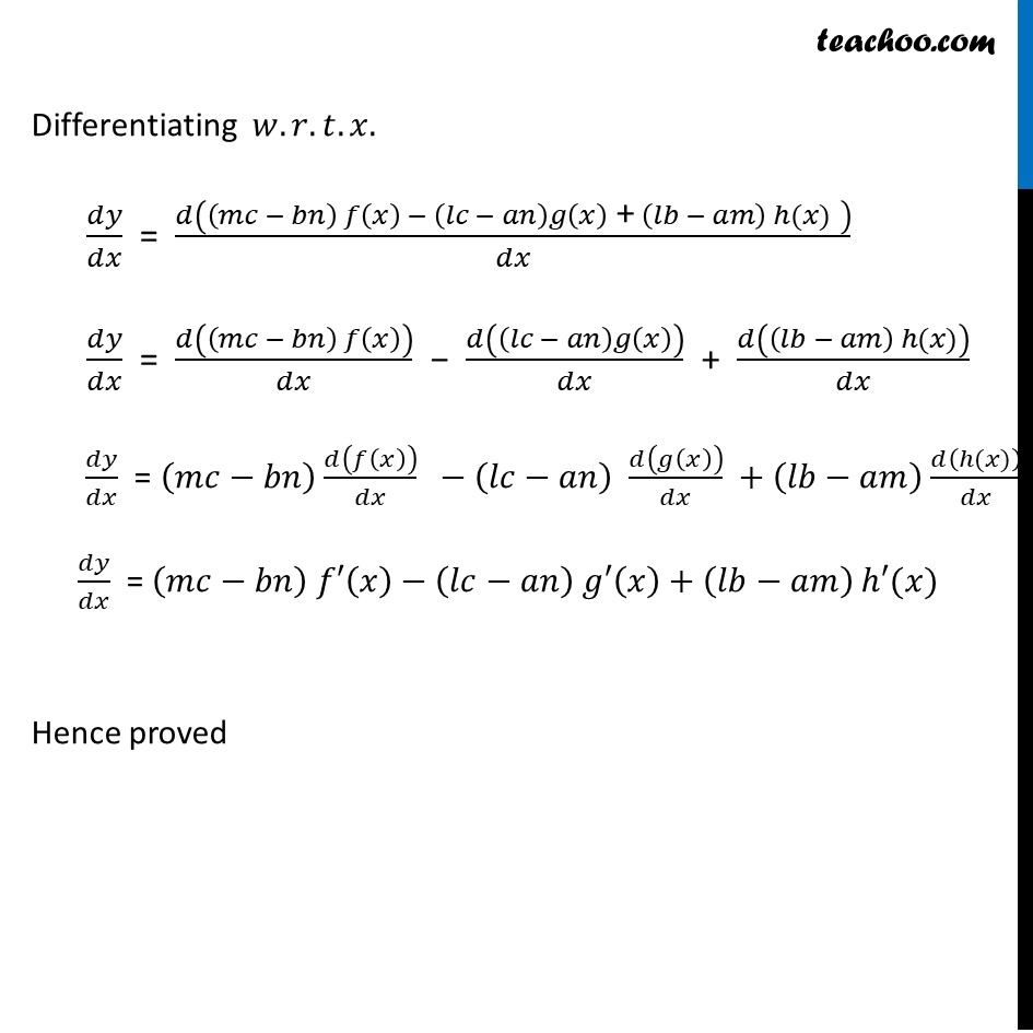 Misc  22 - Chapter 5 Class 12 Continuity and Differentiability - Part 3