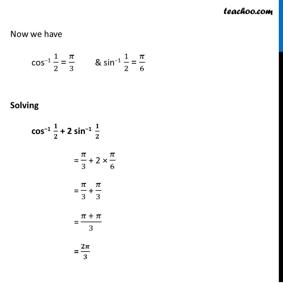 Ex 2.1, 12 - Chapter 2 Class 12 Inverse Trigonometric Functions - Part 3
