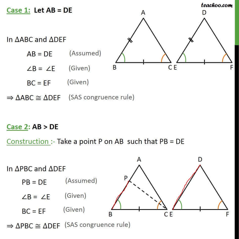 Theorem 7 1 Asa Congruency Class 9 If 2 Angles And Side Are Equal