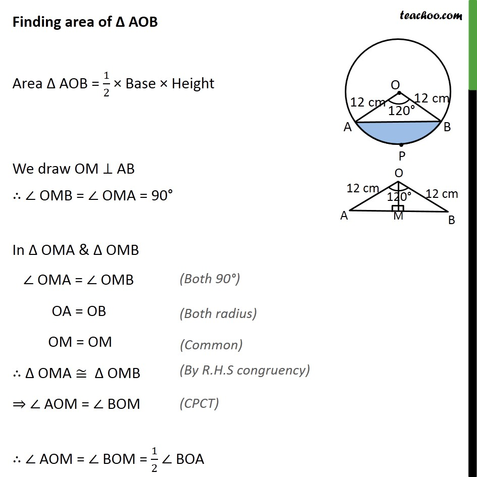 Ex 12.2, 7 - Chapter 12 Class 10 Areas related to Circles - Part 2