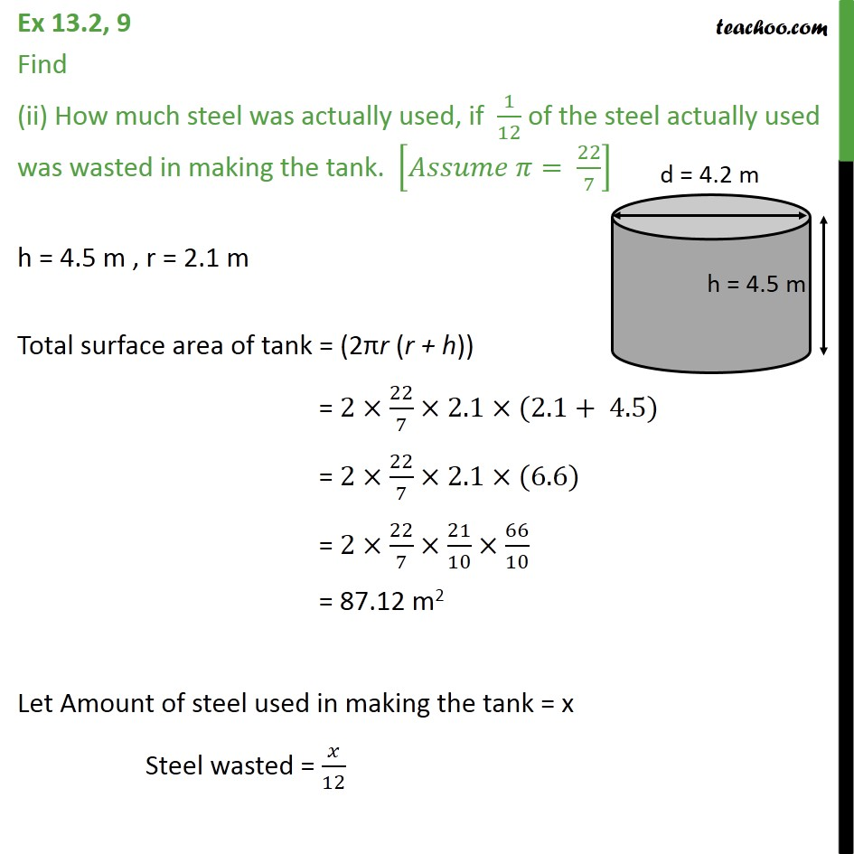 Ex 13.2, 9 - Chapter 13 Class 9 Surface Areas and Volumes - Part 2
