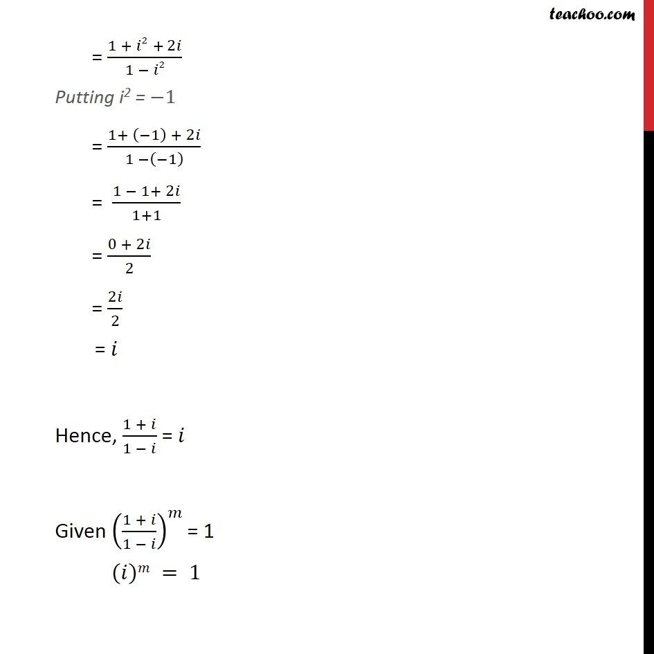 Misc 20 - Chapter 5 Class 11 Complex Numbers - Part 2