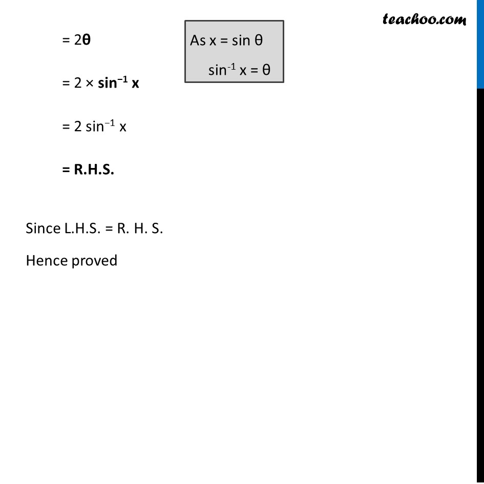 Example 3 - Chapter 2 Class 12 Inverse Trigonometric Functions - Part 2