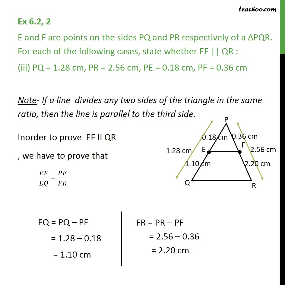 Ex 6.2, 2 - Chapter 6 Class 10 Triangles - Part 3
