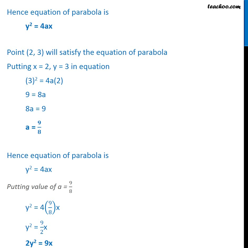 Ex 11.2,  11 - Chapter 11 Class 11 Conic Sections - Part 2