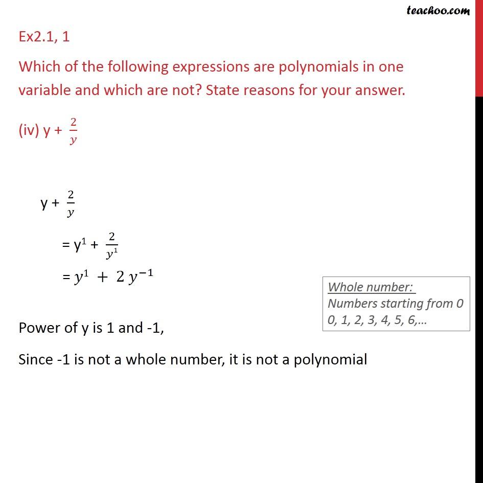 Ex 2.1, 1 - Chapter 2 Class 9 Polynomials - Part 4