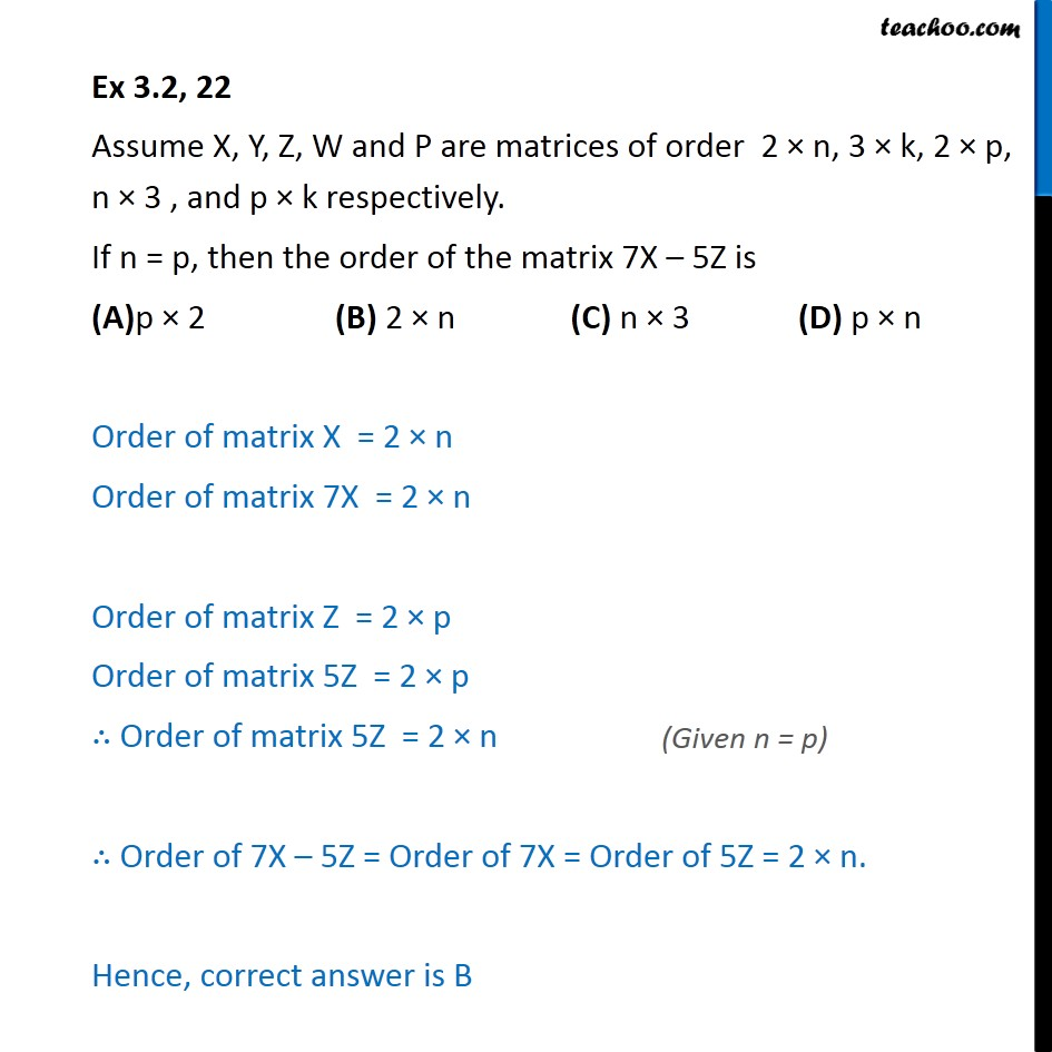 Ex 3.2, 22 - Chapter 3 Class 12 Matrices - Part 4