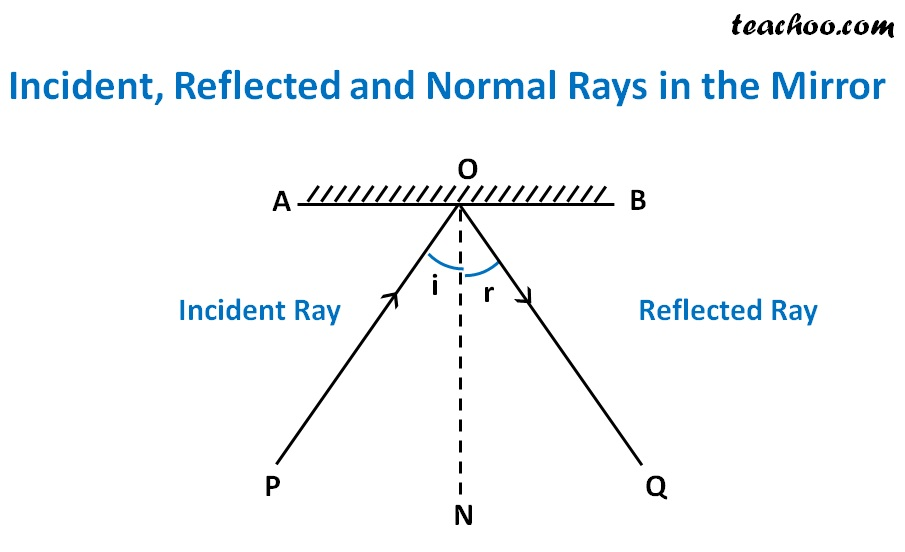 Incident, Reflected and Normal Rays in the Mirror - Teachoo - 2.jpg