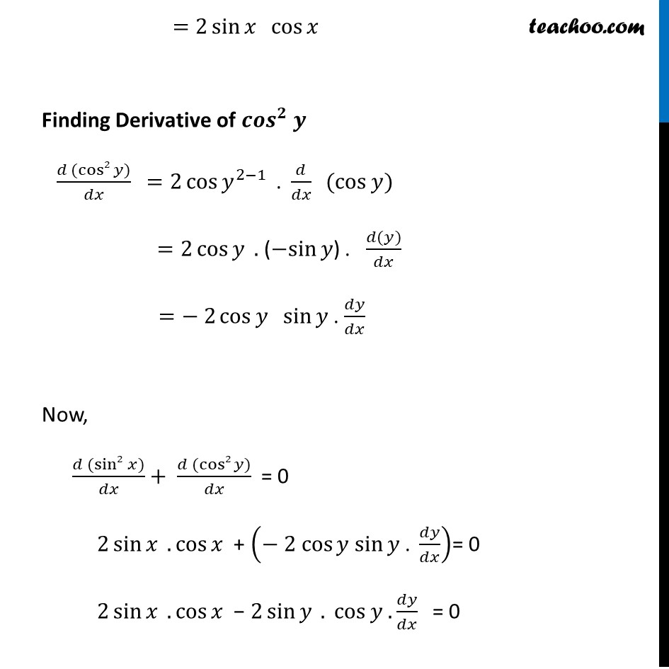 Ex 5.3, 8 - Chapter 5 Class 12 Continuity and Differentiability - Part 2