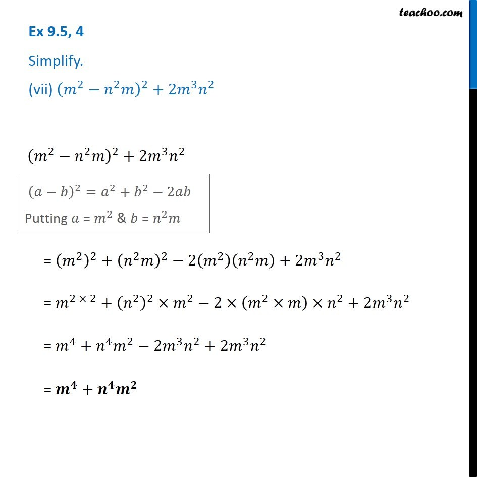 Ex 9.5, 4 - Chapter 9 Class 8 Algebraic Expressions and Identities - Part 11
