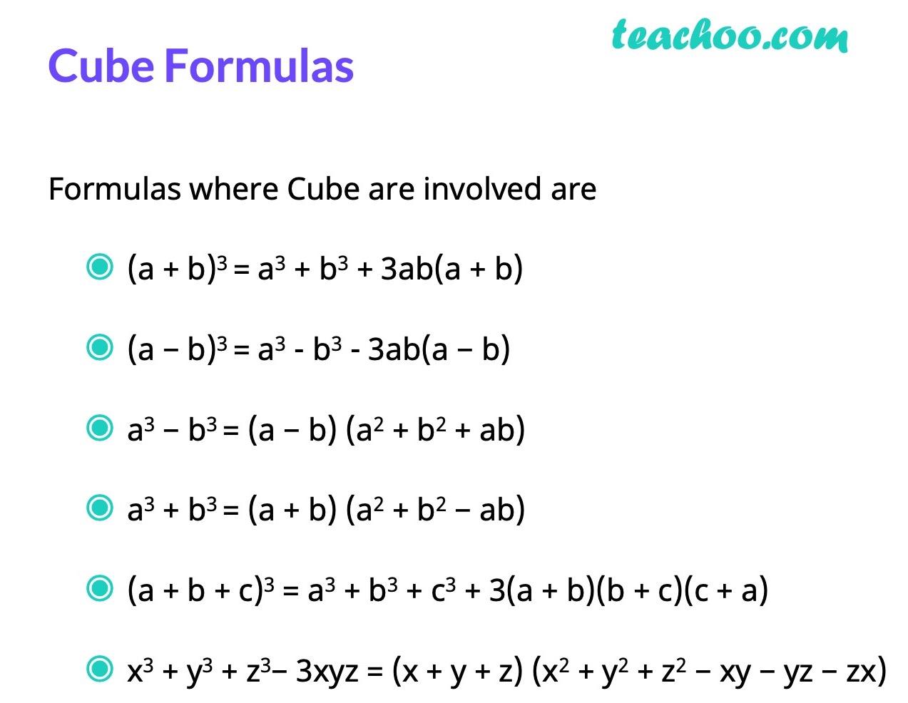 Formulas Involving Cube - Algebra Formulas - Teachoo.jpg