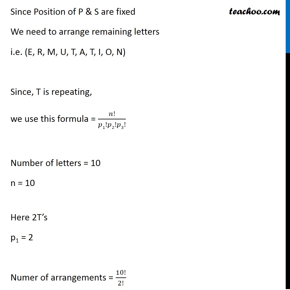 Ex 7.3,11 - Chapter 7 Class 11 Permutations and Combinations - Part 8