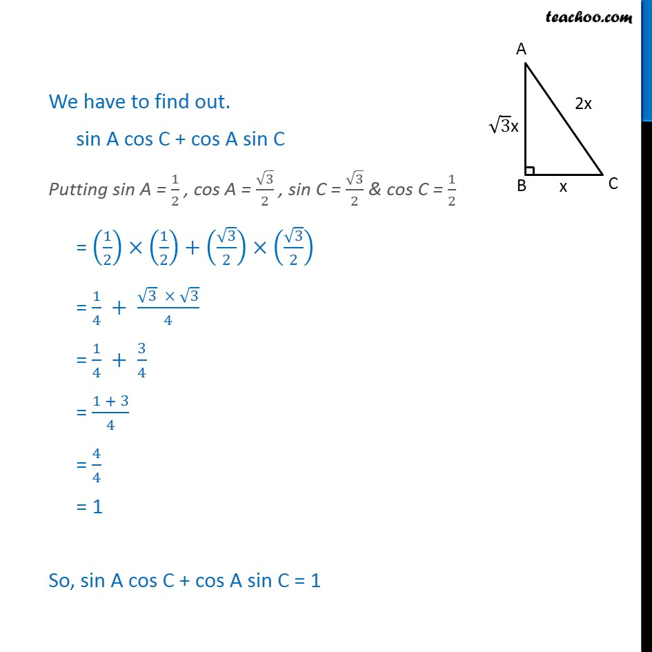 Ex 8.1, 9 - Chapter 8 Class 10 Introduction to Trignometry - Part 4