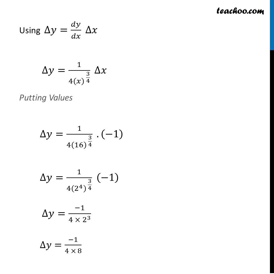 Ex 6.4, 1 (vi) - Chapter 6 Class 12 Application of Derivatives - Part 2