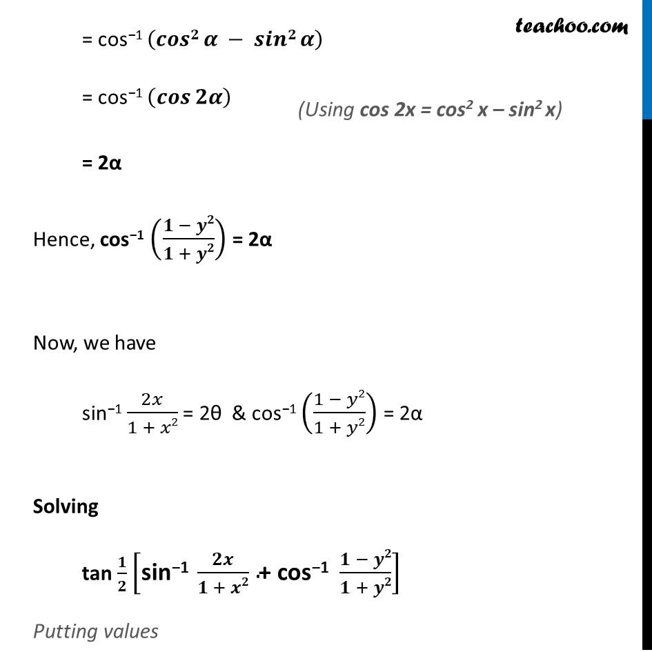 Ex 2.2, 13 - Chapter 2 Class 12 Inverse Trigonometric Functions - Part 4