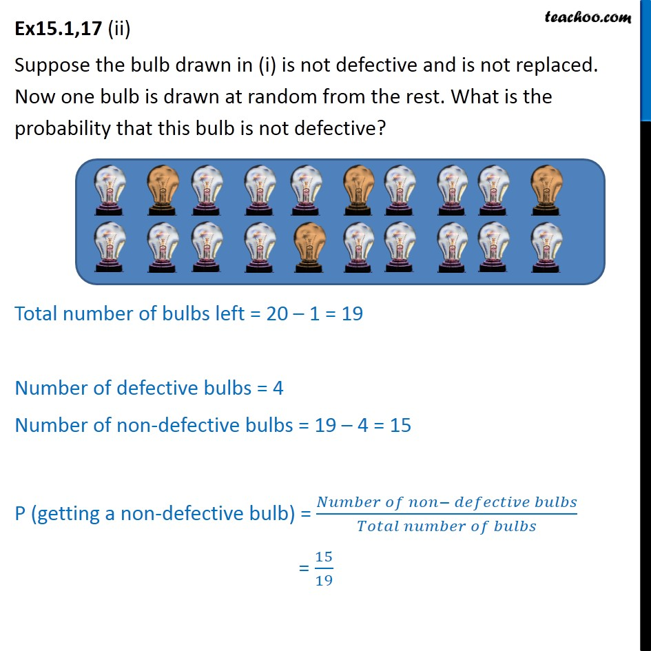Ex 15.1, 17 - Chapter 15 Class 10 Probability - Part 2