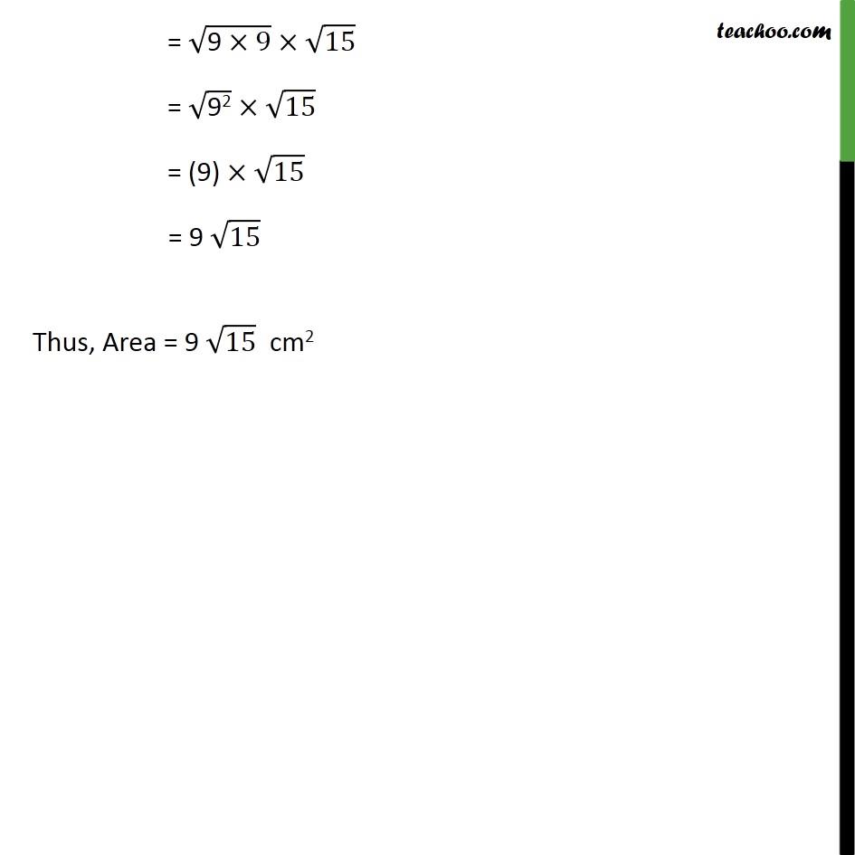 Ex 12.1, 6 - Chapter 12 Class 9 Herons Formula - Part 3