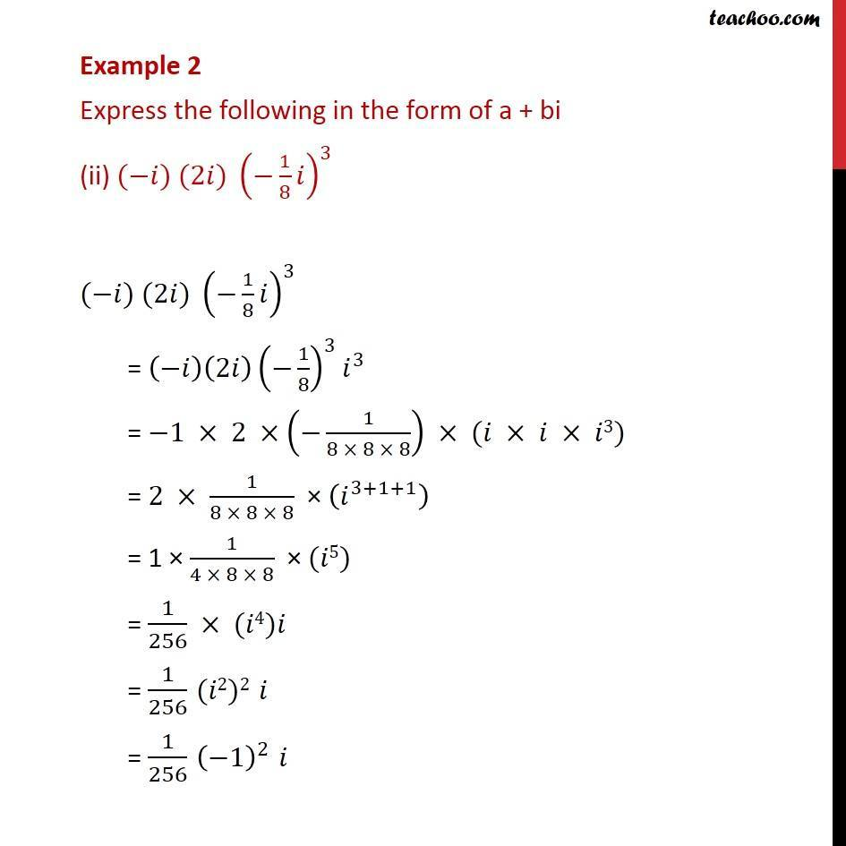 Example 2 - Chapter 5 Class 11 Complex Numbers - Part 2