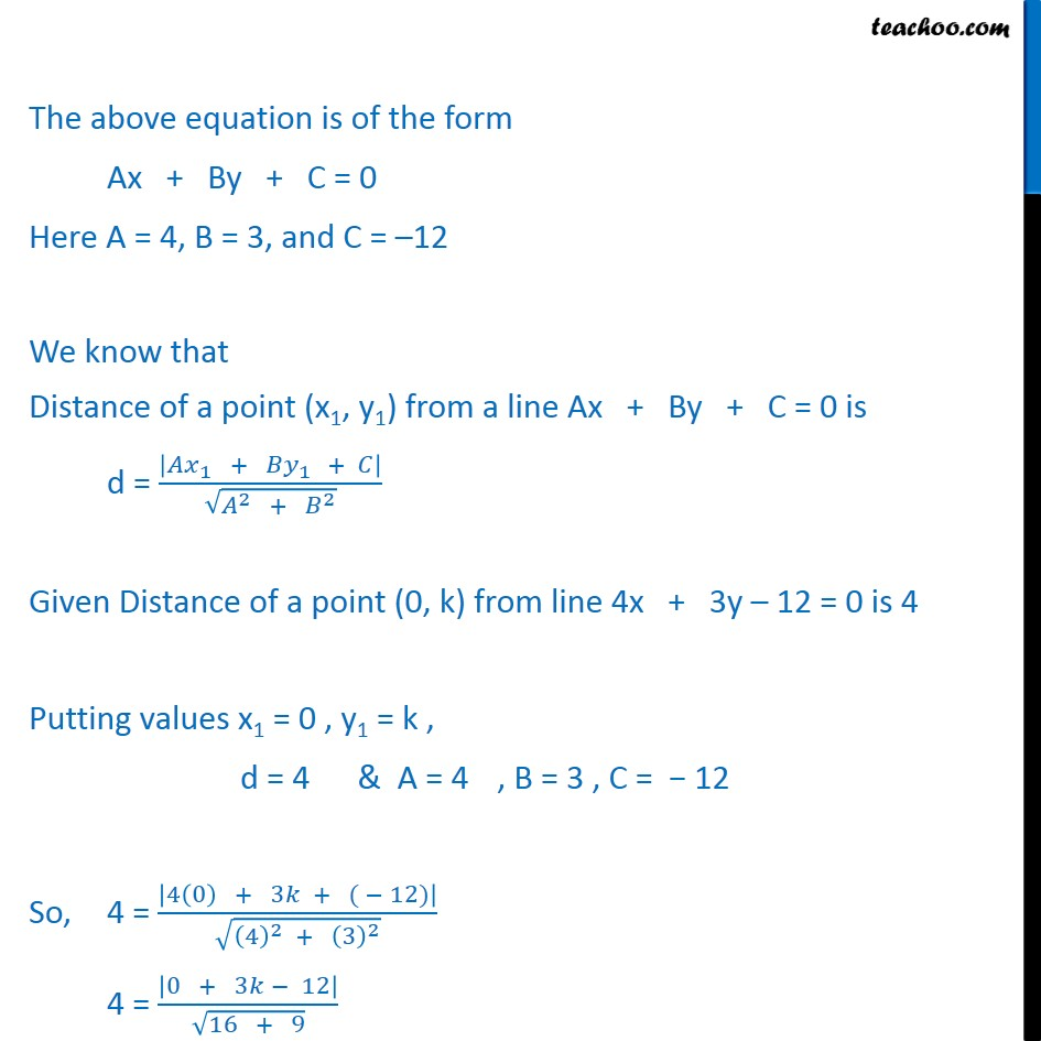 Misc 4 - Chapter 10 Class 11 Straight Lines - Part 2