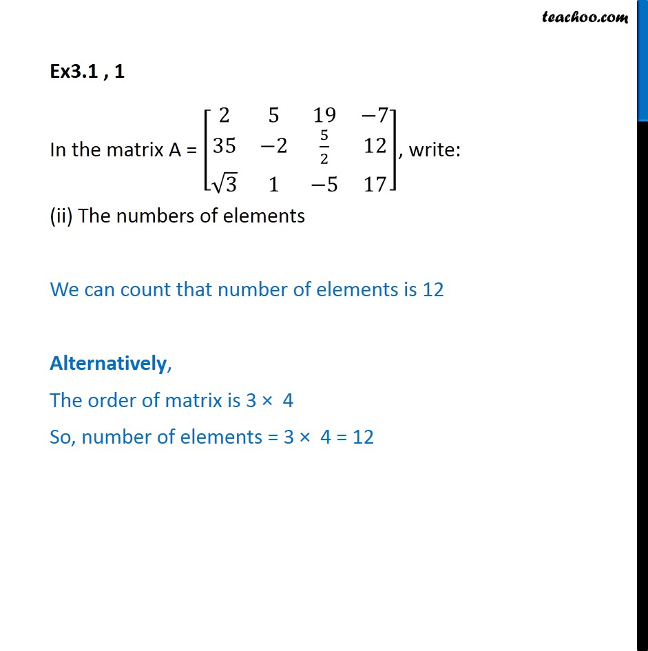 Ex 3.1, 1 - Chapter 3 Class 12 Matrices - Part 2
