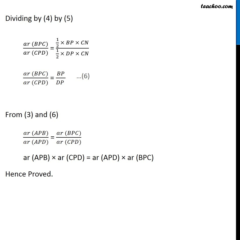 Ex 9.4, 6 (Optional) - Chapter 9 Class 9 Areas of Parallelograms and Triangles - Part 5