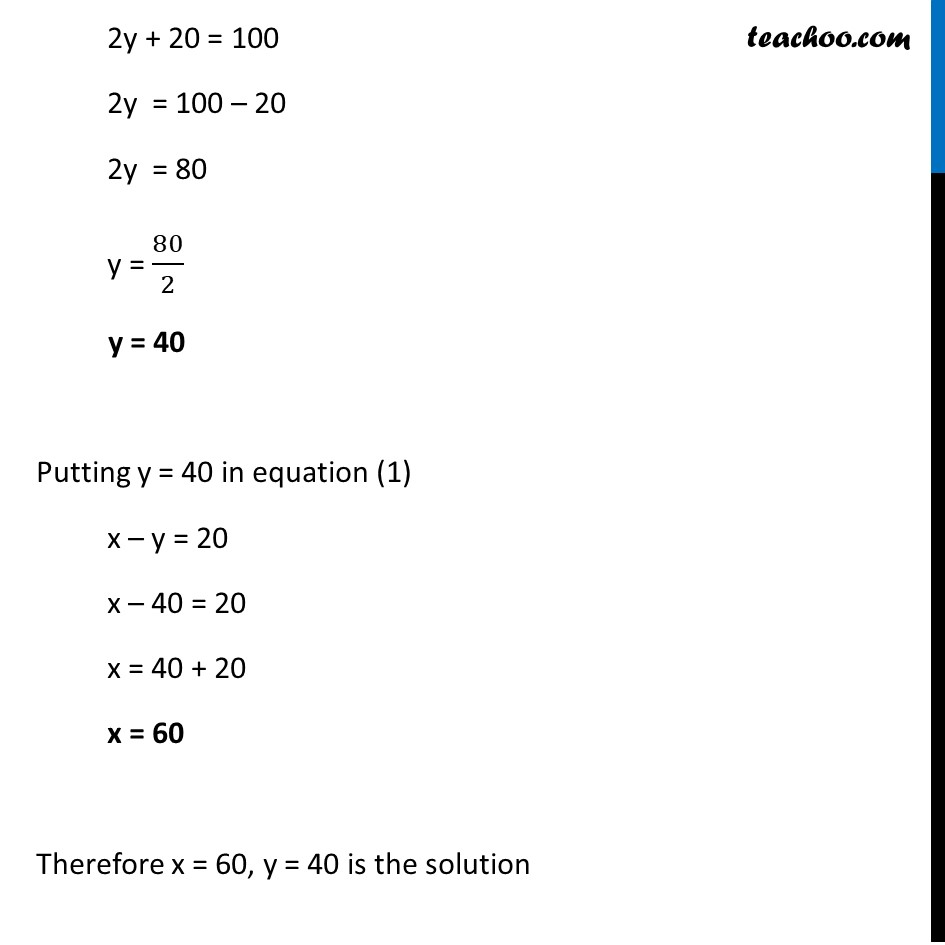 Ex 3.5, 4 (iv) - Chapter 3 Class 10 Pair of Linear Equations in Two Variables - Part 6
