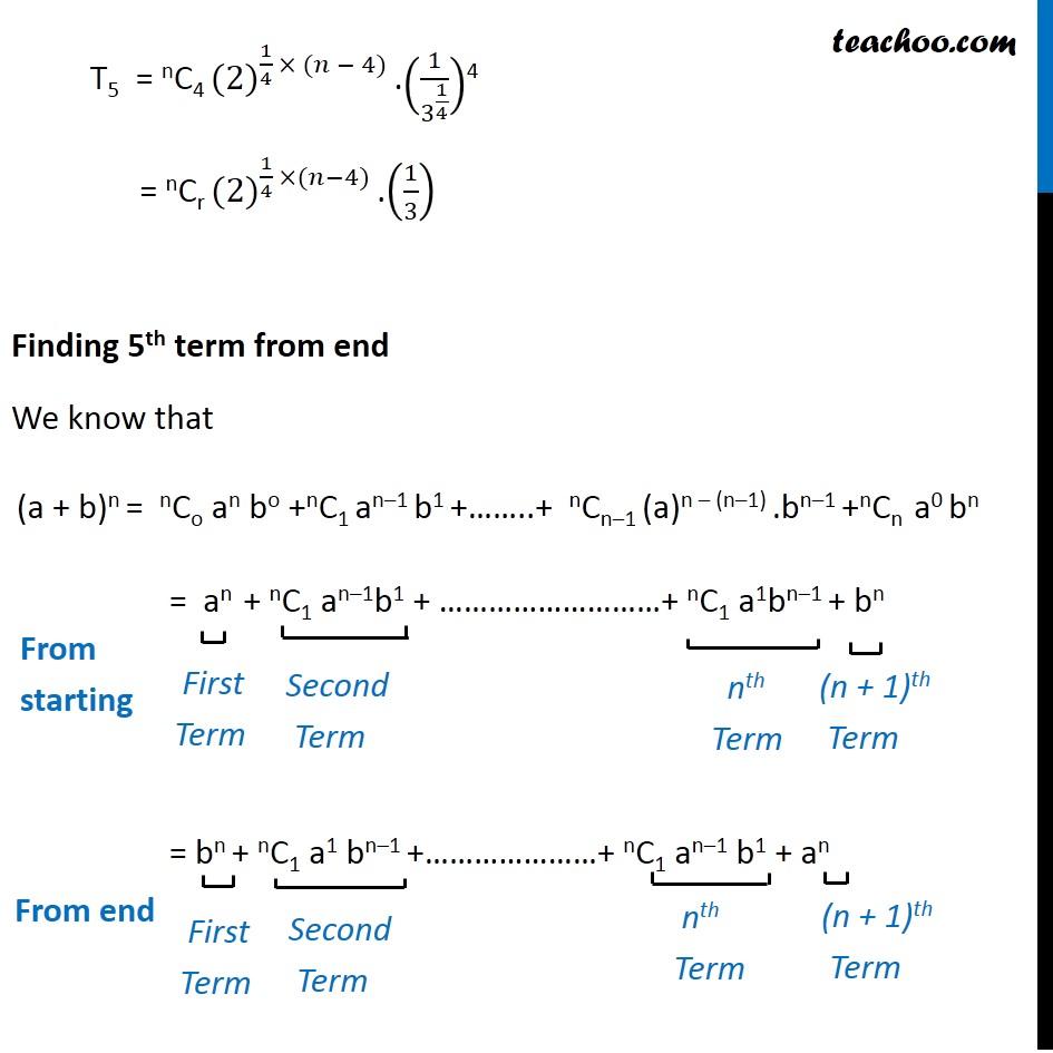 Misc  8 - Chapter 8 Class 11 Binomial Theorem - Part 2
