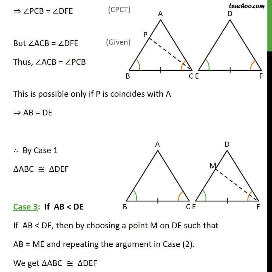 3 Theorem 7.1 if AB  DE, then by chosing point M on DE such that AB = ME and.jpg