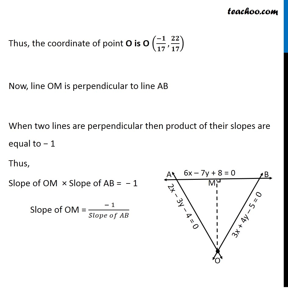 Misc 24 - Chapter 10 Class 11 Straight Lines - Part 5